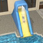 above ground pool slide for sale