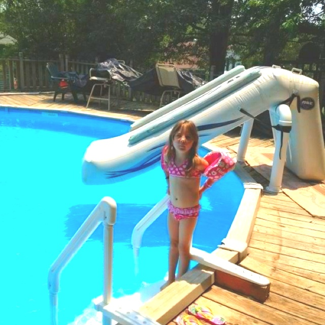 In Ground Pools With Slides. Above Ground Pool Slide In Pools With Slides L