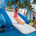 blow up pool with slide