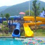 fiberglass pool slide