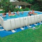 framed swimming pool