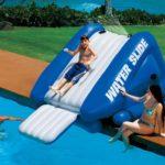 inflatable pool slides for inground pools