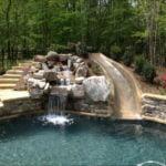 inground pool slides