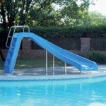 inground pool water slide