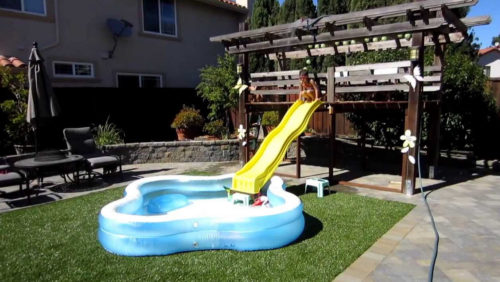 pool slides for above ground pools