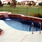 small fiberglass inground pool
