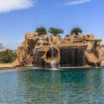 water slide swimming pool