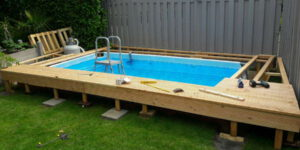 The installation of above ground pool