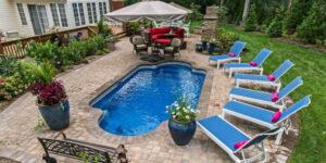 Roman style pool