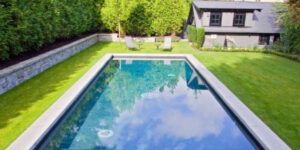 What is a grass-surround pool