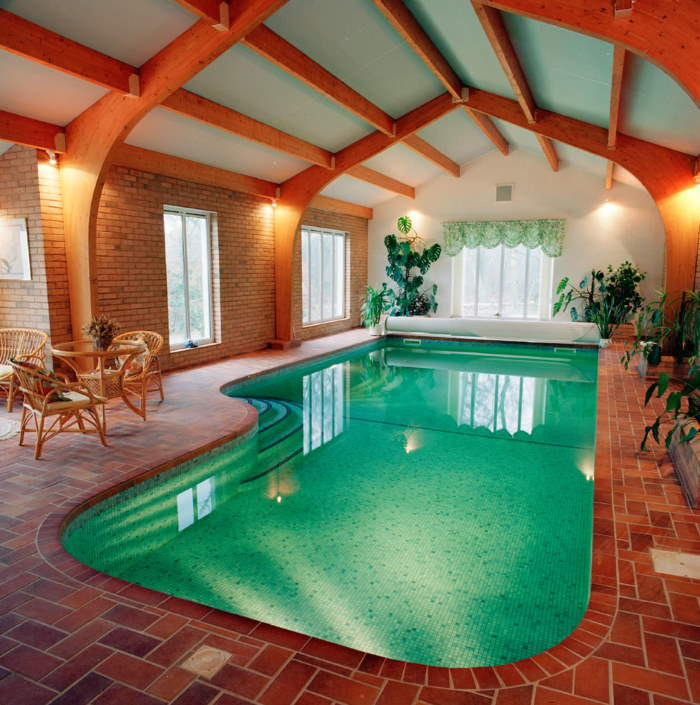 The price of an indoor pool