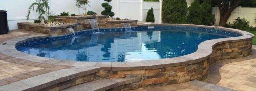 semi inground pools in Florida