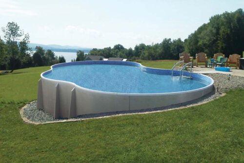 semi inground pools in ohio