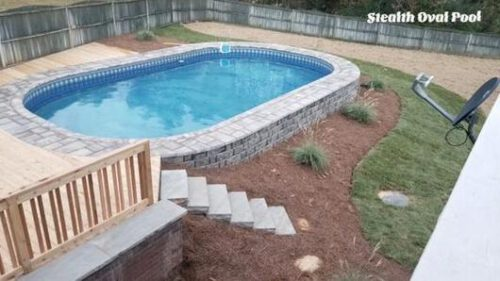 semi inground pools in Oklahoma