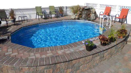 who installs semi inground pools in Massachusetts