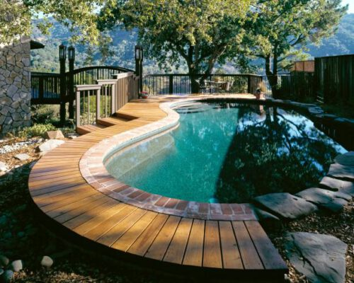 diy inground pool deck