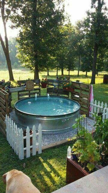 diy inground pool patio