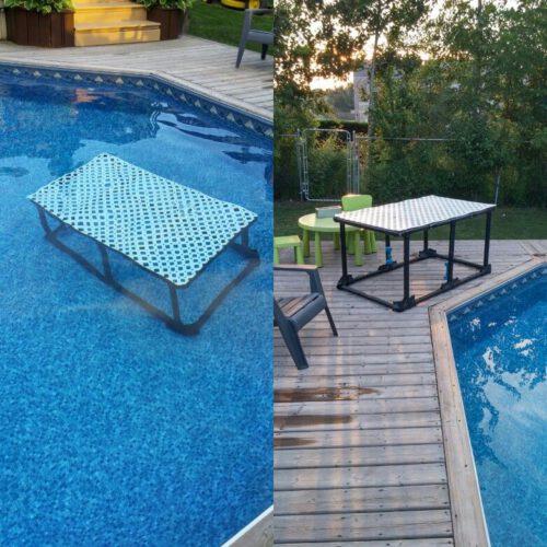 diy inground pool steps