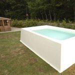 fiberglass lap pool above ground
