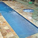 fiberglass lap pool shell