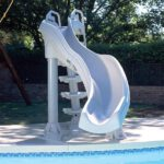 pool slides above ground