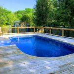 semi inground pools in michigan